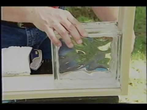 Glass block youtube for Glass block window frame