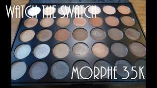 watch the swatch    morphe 35k palette
