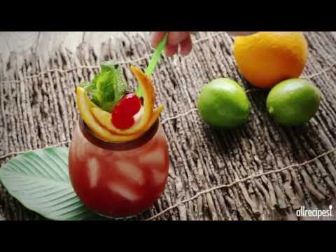Tiki Tuesday Recipes - How to Make Sunset Rum Punch
