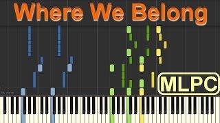Hugel & Jasmine Thompson - Where We Belong I Piano Tutorial by MLPC