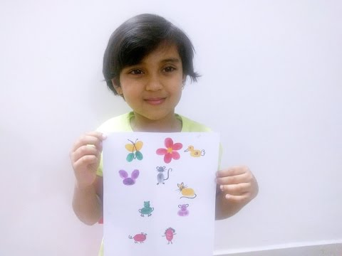 Thumb Painting For Kids - How To Do Finger Painting For Kids Under 5