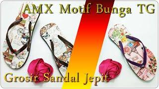 Grosir Sandal Jepit Surabaya AMX Motif Bunga TG(31-35)