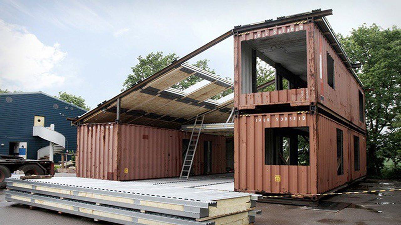 Construyeron su casa con 3 contenedores youtube - Casa de contenedores ...