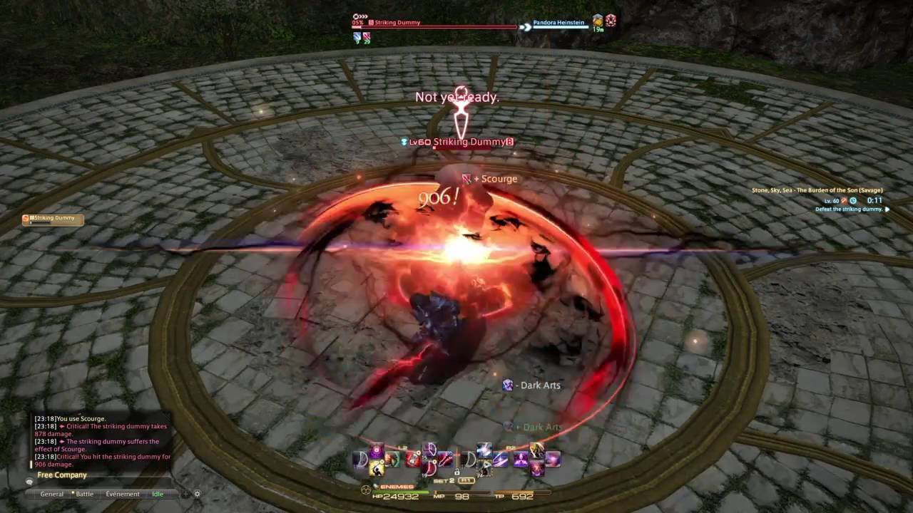FFXIV 1100+ DPS Dark Knight Rotation on A8S Dummy