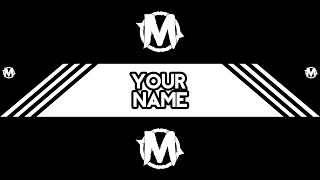 2D Banner Template! | Black & White | Photoshop | FREE DOWNLOAD! |