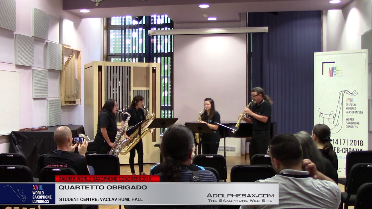Chasing Baby Bumblebees by Stephen David Beck   Quarteto Obrigado   XVIII World Sax Congress 2018 #a