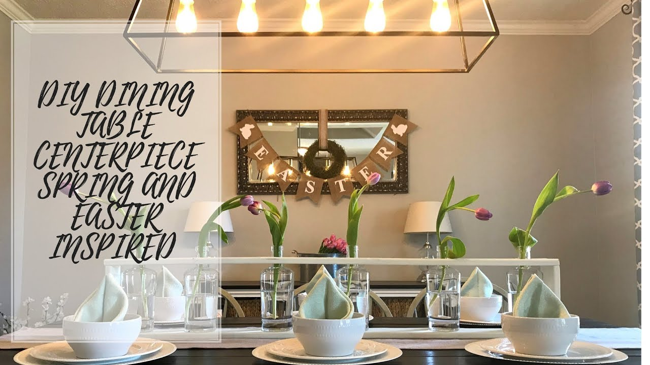 DIY Dining Table Centerpiece SPRING EASTER Tablescape