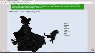 Is AAP website shows J&K in pakistan ?