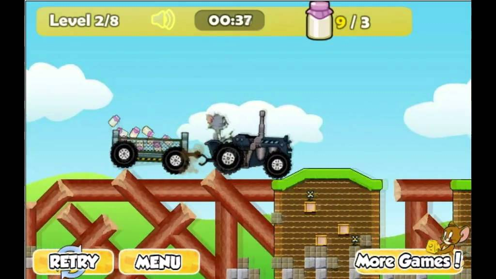Tom & Jerry Tractor 2 Game - Y8.com Online Games by malditha - YouTube