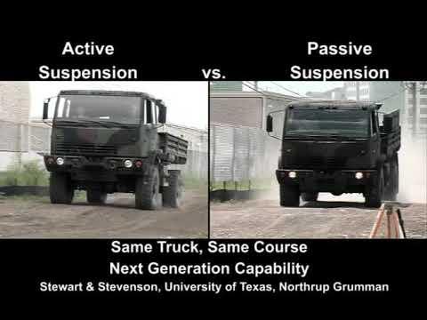 LMTV: Passive vs. Active Suspension Tests