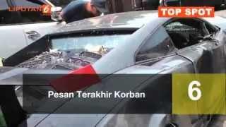 6 Fakta Kecelakaan Maut Lamborghini vs Ferrari di Surabaya