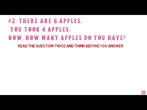 5 Simple Questions Only a Genius Can Answer!   (Intelligence Test)
