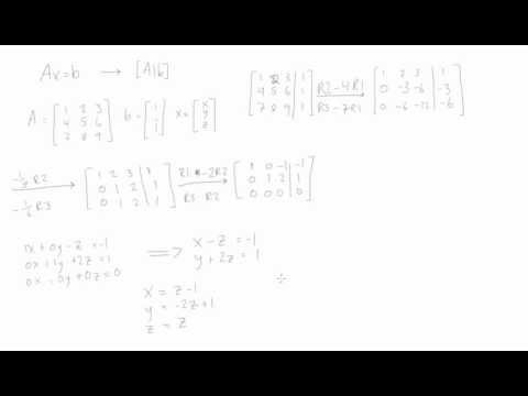 How to solve Ax=b (Linear Algebra)