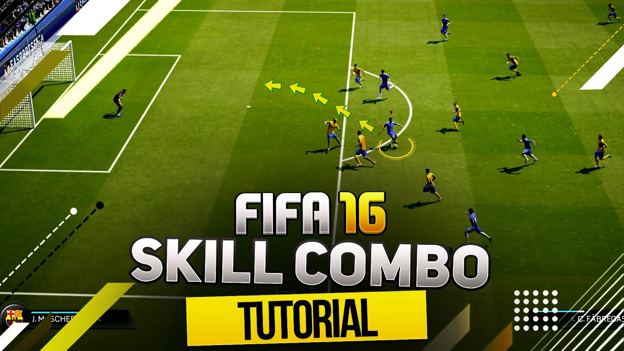 FIFA 16 NEW HIDDEN SKILL COMBO TUTORIAL - AMAZING ATTACKING MOVE / HOW TO  SCORE EASY GOALS!