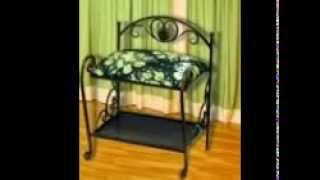 видео Кованые кресла и кованые пуфики