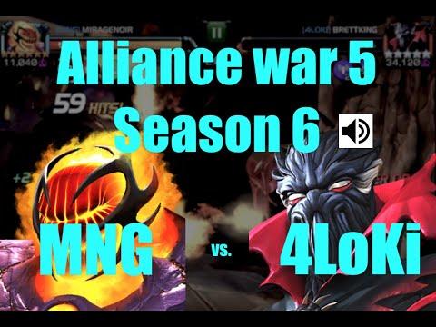 MCOC AW 5 Season 6 : MNG vs. 4LoKi : Path + r5 Sym Supreme + miniboss
