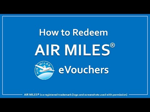 How to Redeem Air Miles eVouchers
