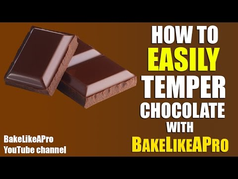 How To Easily Temper Chocolate ! / How To Temper Chocolate Chips