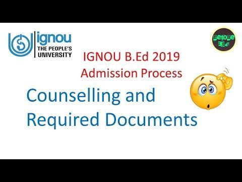 IGNOU B.Ed 2019 Counselling and Admission Process   Netone Study
