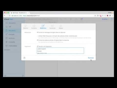 Comment changer la signature email de ma messagerie iCloud