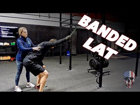 Improving Overhead Mobility - Banded Lat Stretch