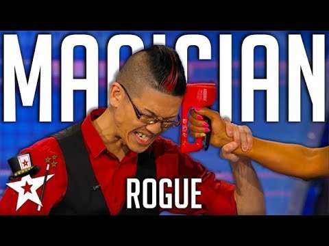 Magician Tests Woman's Intuition Playing Russian Roulette with Mel B!