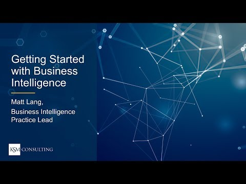 Webinar | Getting Started With Business Intelligence