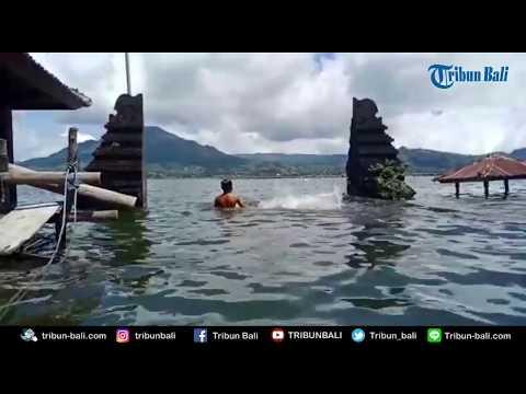 Danau Batur Meluap, Rumah Warga Terendam Air Setinggi Dada Orang Dewasa