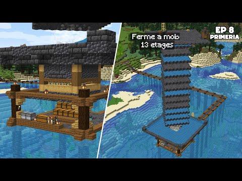 Ma GRANDE FERME à MOB sur l'eau ! - Episode 9 Primeria S3 - Minecraft Survie 1.17
