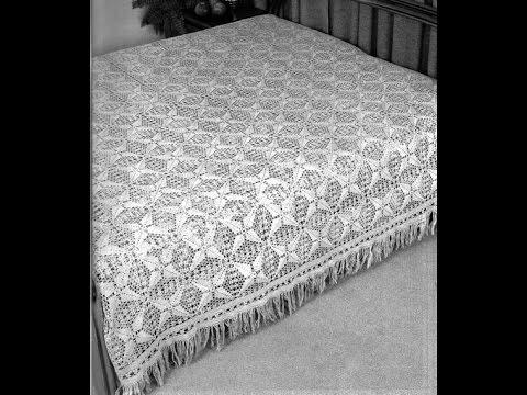 Crochet Patterns For Free Crochet Bedspread 1720 Youtube