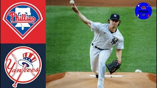 Yankees vs Phillies Highlights (Gerrit Cole 1st NYY Home Start) | Breakdown voiced by Wheels 8/3/20