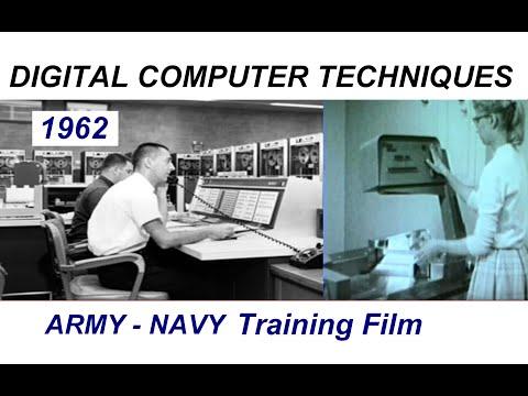 "Vintage 1962 Army Navy Film ""Digital Computer Techniques""  - core memory, magnetic storage, etc."