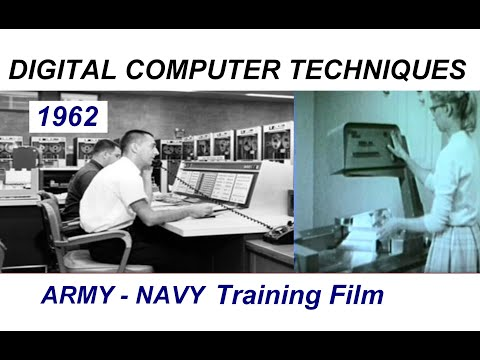 "Vintage 1962 Army Navy Film ""Digital Computer Techniques""  - core memory, magnetic storage, etc."