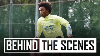 First look at Willian plus Arteta's crossbar challenge | Behind the scenes at Arsenal training