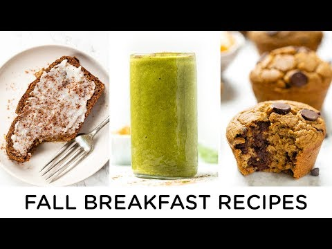 FALL BREAKFAST RECIPES ‣‣ all made with pumpkin! 🎃