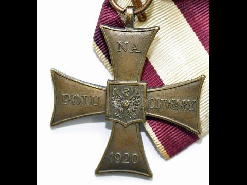 Odznaczenie Krzyż Walecznych 1920 wykonanie palestyńskie