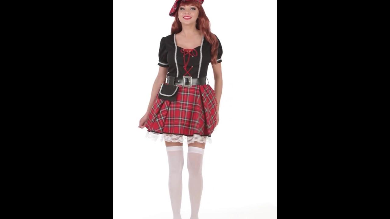 Disfraz de Escocesa para mujer. - YouTube b75419e4629
