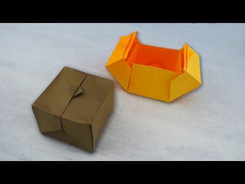 Оригами закрывающаяся коробочка