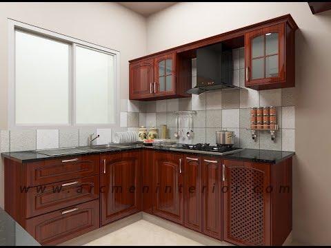 VGN Stafford Apartment  Solid Rubber Wood Modular Kitchen by Arcmen Interior Designer Chennai