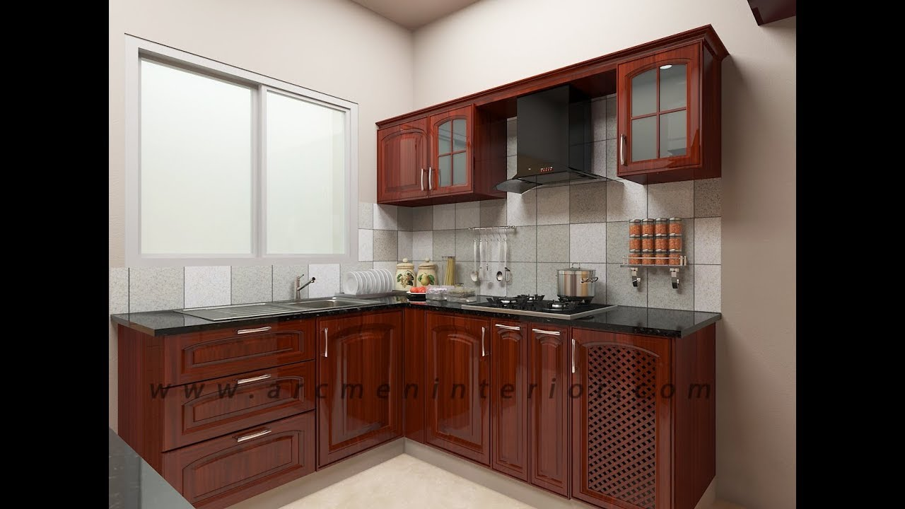 VGN Stafford Apartment Solid Rubber Wood Modular Kitchen By Arcmen Interior Designer  Chennai