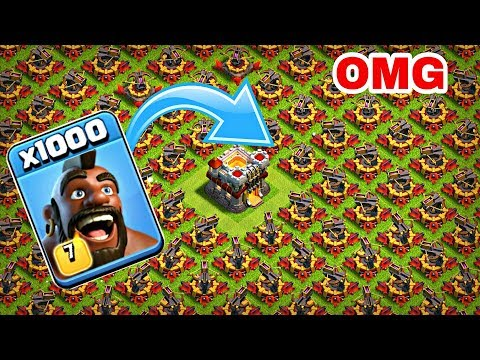 1000 Max Hog Rider VS 500 Max X-Bow Attack GamePlay | Coc Private Server
