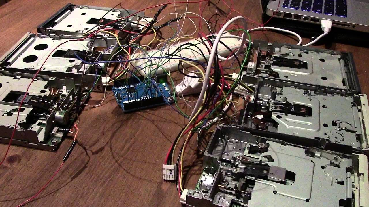 Watch john williams imperial march played by floppy disk