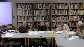 Warrant and Finance - School Budget - 04-02-2013