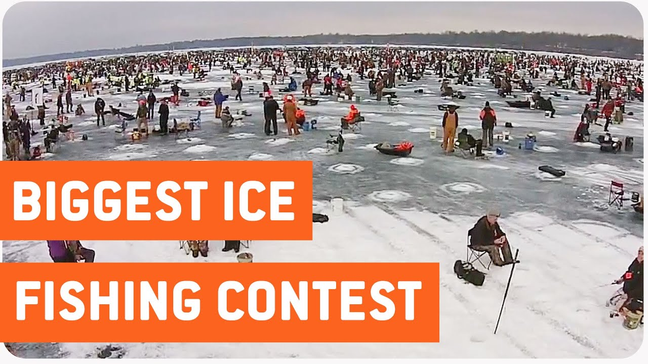 Largest charity ice fishing contest in the world youtube for Ice fishing tournament