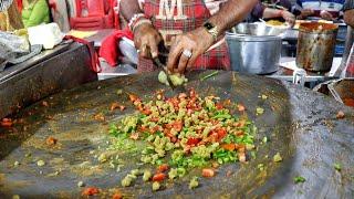 Delicious Live Veg Pulao | Manek Chowk Night Food Market In Ahmedabad | Indian Street Food