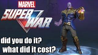 MARVEL SUPER WAR HEROES AND SKINS