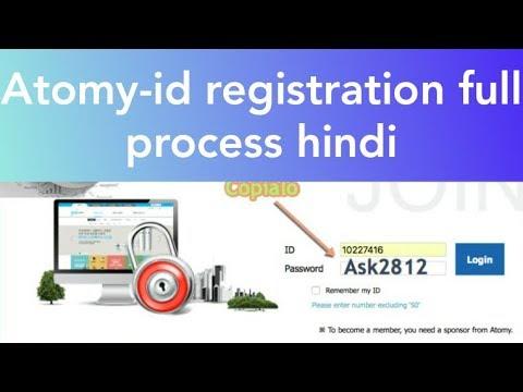 ATOMY LIVE FULL ID REGISTRATION PROCESS HINDI/