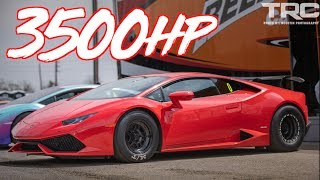 3500HP Lambo Drag Wheelie and Roll Race Champions! - Mind Blowing BOOST