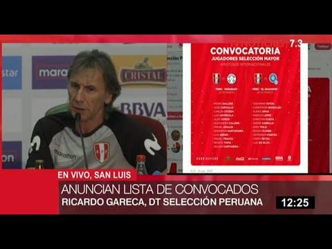 Selección peruana: Gareca anuncia lista de convocados para amistosos ante Paraguay y El Salvador