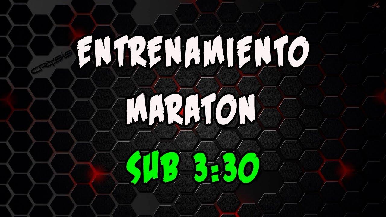 entrenamiento maraton 3 30